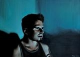 Screen time: Greg by Matthew Hickey, Painting, Oil on canvas