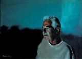 Screen time: Mike by Matthew Hickey, Painting, Oil on canvas