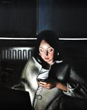 Screen time: Sarah by Matthew Hickey, Painting, Oil on canvas