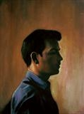 Self profile by Matthew Hickey, Painting, Oil on canvas