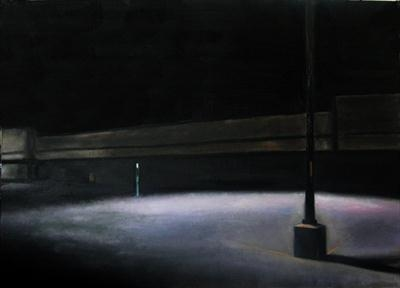 Borders Levittown by Matthew Hickey, Painting, Oil on canvas