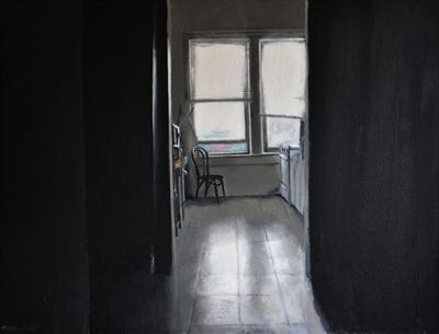 Kitchen light by Matthew Hickey, Painting, Oil on canvas