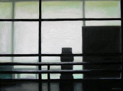 Schiphol by Matthew Hickey, Painting, Oil on canvas