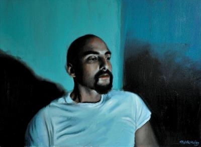 Screen time: Ernesto by Matthew Hickey, Painting, Oil on canvas