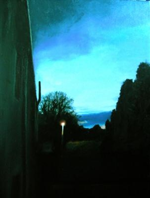 Stonehaugh road by Matthew Hickey, Painting, Oil on canvas